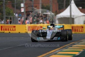 World © Octane Photographic Ltd. Formula 1 - Australian Grand Prix - Practice 1. Lewis Hamilton - Mercedes AMG Petronas F1 W08 EQ Energy+. Albert Park Circuit. Friday 24th March 2017. Digital Ref: 1793LB1D1003