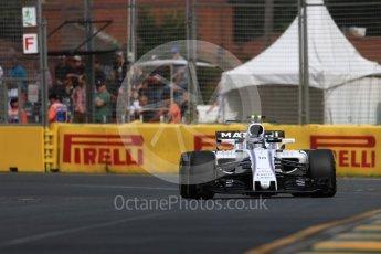World © Octane Photographic Ltd. Formula 1 - Australian Grand Prix - Practice 1. Lance Stroll - Williams Martini Racing FW40. Albert Park Circuit. Friday 24th March 2017. Digital Ref: 1793LB1D1025