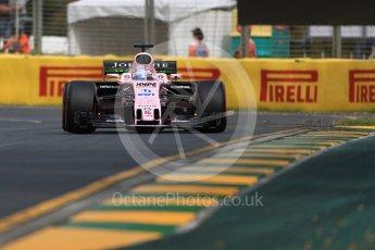 World © Octane Photographic Ltd. Formula 1 - Australian Grand Prix - Practice 1. Sergio Perez - Sahara Force India VJM10. Albert Park Circuit. Friday 24th March 2017. Digital Ref: 1793LB1D1065