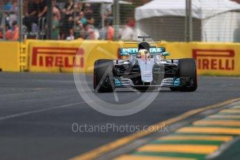 World © Octane Photographic Ltd. Formula 1 - Australian Grand Prix - Practice 1. Lewis Hamilton - Mercedes AMG Petronas F1 W08 EQ Energy+. Albert Park Circuit. Friday 24th March 2017. Digital Ref: 1793LB1D1341