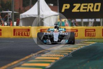 World © Octane Photographic Ltd. Formula 1 - Australian Grand Prix - Practice 1. Lewis Hamilton - Mercedes AMG Petronas F1 W08 EQ Energy+. Albert Park Circuit. Friday 24th March 2017. Digital Ref: 1793LB1D1444