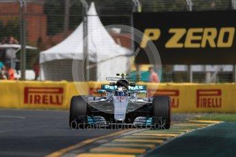 World © Octane Photographic Ltd. Formula 1 - Australian Grand Prix - Practice 1. Valtteri Bottas - Mercedes AMG Petronas F1 W08 EQ Energy+. Albert Park Circuit. Friday 24th March 2017. Digital Ref: 1793LB1D1582
