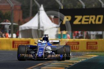 World © Octane Photographic Ltd. Formula 1 - Australian Grand Prix - Practice 1. Marcus Ericsson – Sauber F1 Team C36. Albert Park Circuit. Friday 24th March 2017. Digital Ref: 1793LB1D1613