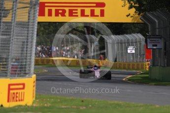 World © Octane Photographic Ltd. Formula 1 - Australian Grand Prix - Practice 1. Sergio Perez - Sahara Force India VJM10. Albert Park Circuit. Friday 24th March 2017. Digital Ref: 1793LB1D1744