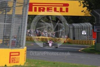 World © Octane Photographic Ltd. Formula 1 - Australian Grand Prix - Practice 1. Esteban Ocon - Sahara Force India VJM10. Albert Park Circuit. Friday 24th March 2017. Digital Ref: 1793LB1D1859