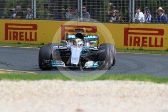 World © Octane Photographic Ltd. Formula 1 - Australian Grand Prix - Practice 1. Lewis Hamilton - Mercedes AMG Petronas F1 W08 EQ Energy+. Albert Park Circuit. Friday 24th March 2017. Digital Ref: 1793LB1D1925