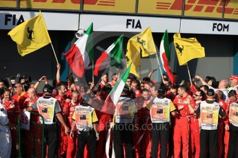 World © Octane Photographic Ltd. Formula 1 - Australian Grand Prix - Podium. Sebastian Vettel - Scuderia Ferrari team. Albert Park Circuit. Sunday 26th March 2017. Digital Ref: 1803LB1D6931