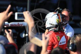 World © Octane Photographic Ltd. Formula 1 - Australian Grand Prix - Podium. Sebastian Vettel - Scuderia Ferrari SF70H. Albert Park Circuit. Sunday 26th March 2017. Digital Ref: 1803LB1D7025