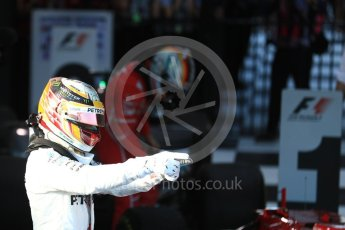 World © Octane Photographic Ltd. Formula 1 - Australian Grand Prix - Podium. Lewis Hamilton - Mercedes AMG Petronas F1 W08 EQ Energy+. Albert Park Circuit. Sunday 26th March 2017. Digital Ref: 1803LB1D7083