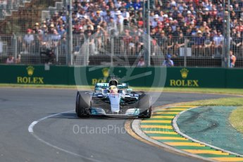 World © Octane Photographic Ltd. Formula 1 - Australian Grand Prix - Race. Lewis Hamilton - Mercedes AMG Petronas F1 W08 EQ Energy+. Albert Park Circuit. Sunday 26th March 2017. Digital Ref: 1802LB1D6033