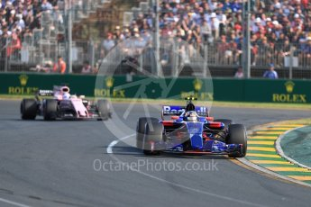 World © Octane Photographic Ltd. Formula 1 - Australian Grand Prix - Race. Carlos Sainz - Scuderia Toro Rosso STR12. Albert Park Circuit. Sunday 26th March 2017. Digital Ref: 1802LB1D6092