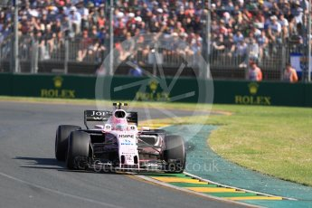 World © Octane Photographic Ltd. Formula 1 - Australian Grand Prix - Race. Esteban Ocon - Sahara Force India VJM10. Albert Park Circuit. Sunday 26th March 2017. Digital Ref: 1802LB1D6245