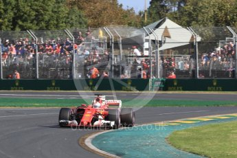 World © Octane Photographic Ltd. Formula 1 - Australian Grand Prix - Race. Sebastian Vettel - Scuderia Ferrari SF70H. Albert Park Circuit. Sunday 26th March 2017. Digital Ref: 1802LB1D6572