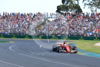 World © Octane Photographic Ltd. Formula 1 - Australian Grand Prix - Race. Sebastian Vettel - Scuderia Ferrari SF70H. Albert Park Circuit. Sunday 26th March 2017. Digital Ref: 1802LB2D5617