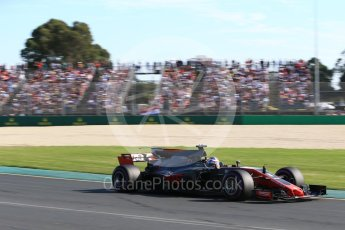 World © Octane Photographic Ltd. Formula 1 - Australian Grand Prix - Race. Romain Grosjean - Haas F1 Team VF-17. Albert Park Circuit. Sunday 26th March 2017. Digital Ref: 1802LB2D5742