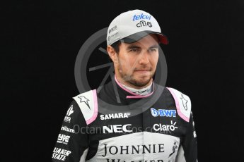World © Octane Photographic Ltd. Formula 1 - Australian Grand Prix - FIA Driver Photo Call. Sergio Perez - Sahara Force India VJM10. Albert Park Circuit. Thursday 23rd March 2017. Digital Ref: 1790LB1D8550
