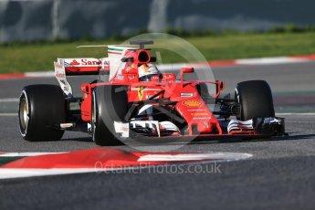 World © Octane Photographic Ltd. Formula 1 - Winter Test 2. Sebastian Vettel - Scuderia Ferrari SF70H. Circuit de Barcelona-Catalunya. Tuesday 7th March 2017. Digital Ref :1784CB1D0371
