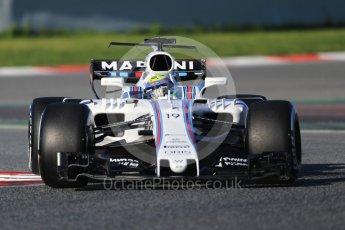 World © Octane Photographic Ltd. Formula 1 - Winter Test 2. Felipe Massa - Williams Martini Racing FW40. Circuit de Barcelona-Catalunya. Tuesday 7th March 2017. Digital Ref :1784CB1D0416