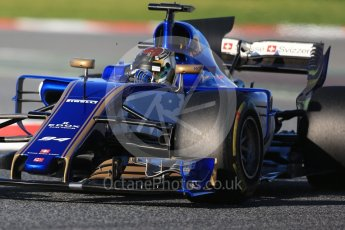 World © Octane Photographic Ltd. Formula 1 - Winter Test 2. Pascal Wehrlein – Sauber F1 Team C36. Circuit de Barcelona-Catalunya. Tuesday 7th March 2017. Digital Ref :1784CB1D0505