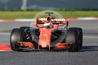 World © Octane Photographic Ltd. Formula 1 - Winter Test 2. Stoffel Vandoorne - McLaren Honda MCL32. Circuit de Barcelona-Catalunya. Tuesday 7th March 2017. Digital Ref :1784CB1D0563