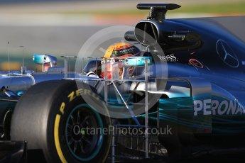 World © Octane Photographic Ltd. Formula 1 - Winter Test 2. Lewis Hamilton - Mercedes AMG Petronas F1 W08 EQ Energy+. Circuit de Barcelona-Catalunya. Tuesday 7th March 2017. Digital Ref :1784CB1D0578