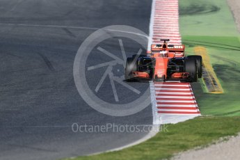 World © Octane Photographic Ltd. Formula 1 - Winter Test 2. Stoffel Vandoorne - McLaren Honda MCL32. Circuit de Barcelona-Catalunya. Tuesday 7th March 2017. Digital Ref :1784CB1D0803