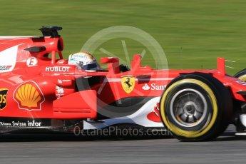 World © Octane Photographic Ltd. Formula 1 - Winter Test 2. Sebastian Vettel - Scuderia Ferrari SF70H. Circuit de Barcelona-Catalunya. Tuesday 7th March 2017. Digital Ref: 1784CB1D0976