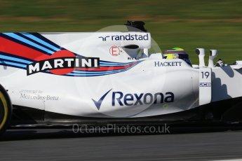 World © Octane Photographic Ltd. Formula 1 - Winter Test 2. Felipe Massa - Williams Martini Racing FW40. Circuit de Barcelona-Catalunya. Tuesday 7th March 2017. Digital Ref: 1784CB1D1118