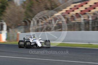 World © Octane Photographic Ltd. Formula 1 - Winter Test 2. Felipe Massa - Williams Martini Racing FW40. Circuit de Barcelona-Catalunya. Tuesday 7th March 2017. Digital Ref: 1784CB1D1320
