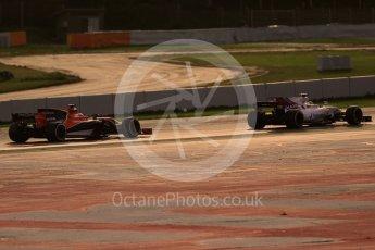World © Octane Photographic Ltd. Formula 1 - Winter Test 2. Felipe Massa - Williams Martini Racing FW40 and Stoffel Vandoorne - McLaren Honda MCL32. Circuit de Barcelona-Catalunya. Tuesday 7th March 2017. Digital Ref :1784CB1D1443