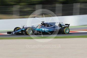World © Octane Photographic Ltd. Formula 1 - Winter Test 2. Lewis Hamilton - Mercedes AMG Petronas F1 W08 EQ Energy+. Circuit de Barcelona-Catalunya. Tuesday 7th March 2017. Digital Ref :1784CB1D4832