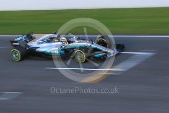 World © Octane Photographic Ltd. Formula 1 - Winter Test 2. Lewis Hamilton - Mercedes AMG Petronas F1 W08 EQ Energy+. Circuit de Barcelona-Catalunya. Tuesday 7th March 2017. Digital Ref :1784CB1D4878