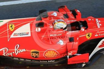 World © Octane Photographic Ltd. Formula 1 - Winter Test 2. Sebastian Vettel - Scuderia Ferrari SF70H. Circuit de Barcelona-Catalunya. Tuesday 7th March 2017. Digital Ref :1784CB1D4927