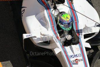 World © Octane Photographic Ltd. Formula 1 - Winter Test 2. Felipe Massa - Williams Martini Racing FW40. Circuit de Barcelona-Catalunya. Tuesday 7th March 2017. Digital Ref :1784CB1D5020