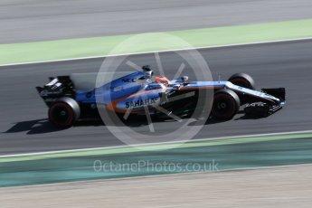 World © Octane Photographic Ltd. Formula 1 - Winter Test 2. Esteban Ocon - Sahara Force India VJM10. Circuit de Barcelona-Catalunya. Tuesday 7th March 2017. Digital Ref: 1784CB1D5098