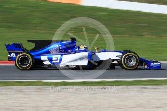 World © Octane Photographic Ltd. Formula 1 - Winter Test 2. Marcus Ericsson – Sauber F1 Team C36. Circuit de Barcelona-Catalunya. Tuesday 7th March 2017. Digital Ref: 1784CB1D5234