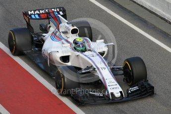 World © Octane Photographic Ltd. Formula 1 - Winter Test 2. Felipe Massa - Williams Martini Racing FW40. Circuit de Barcelona-Catalunya. Tuesday 7th March 2017. Digital Ref :1784CB1D5369