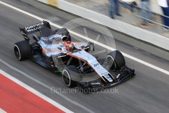 World © Octane Photographic Ltd. Formula 1 - Winter Test 2. Esteban Ocon - Sahara Force India VJM10. Circuit de Barcelona-Catalunya. Tuesday 7th March 2017. Digital Ref :1784CB1D5496
