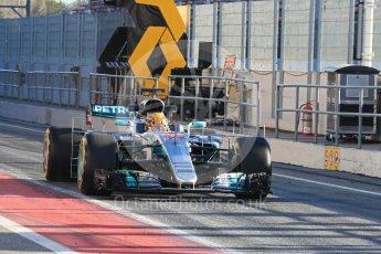 World © Octane Photographic Ltd. Formula 1 - Winter Test 2. Lewis Hamilton - Mercedes AMG Petronas F1 W08 EQ Energy+. Circuit de Barcelona-Catalunya. Tuesday 7th March 2017. Digital Ref :1784LB1D2428
