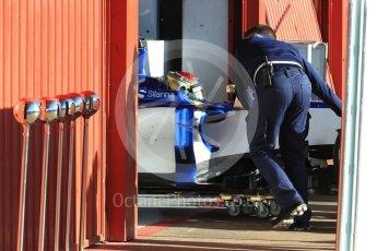 World © Octane Photographic Ltd. Formula 1 - Winter Test 2. Pascal Wehrlein – Sauber F1 Team C36. Circuit de Barcelona-Catalunya. Tuesday 7th March 2017. Digital Ref :1784LB1D2492