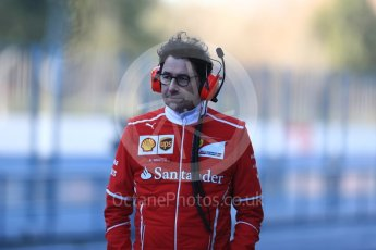 World © Octane Photographic Ltd. Formula 1 - Winter Test 2. Mattia Binotto - Scuderia Ferrari Chief Technical Officer. Circuit de Barcelona-Catalunya. Tuesday 7th March 2017. Digital Ref :1784LB1D2561