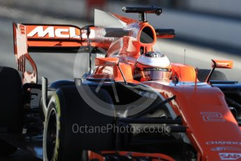 World © Octane Photographic Ltd. Formula 1 - Winter Test 2. Stoffel Vandoorne - McLaren Honda MCL32. Circuit de Barcelona-Catalunya. Tuesday 7th March 2017. Digital Ref :1784LB1D2700