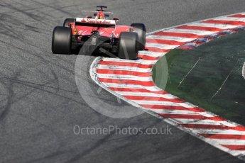 World © Octane Photographic Ltd. Formula 1 - Winter Test 2. Sebastian Vettel - Scuderia Ferrari SF70H. Circuit de Barcelona-Catalunya. Tuesday 7th March 2017. Digital Ref :1784LB1D2703