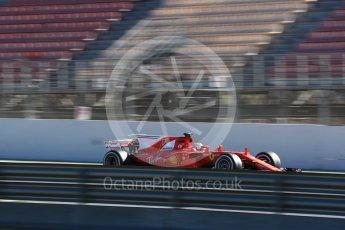 World © Octane Photographic Ltd. Formula 1 - Winter Test 2. Sebastian Vettel - Scuderia Ferrari SF70H. Circuit de Barcelona-Catalunya. Tuesday 7th March 2017. Digital Ref :1784LB1D2878