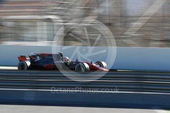 World © Octane Photographic Ltd. Formula 1 - Winter Test 2. Kevin Magnussen - Haas F1 Team VF-17. Circuit de Barcelona-Catalunya. Tuesday 7th March 2017. Digital Ref :1784LB1D2978