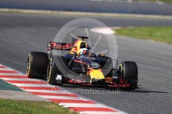 World © Octane Photographic Ltd. Formula 1 - Winter Test 2. Daniel Ricciardo - Red Bull Racing RB13. Circuit de Barcelona-Catalunya. Tuesday 7th March 2017. Digital Ref :1784LB1D3143