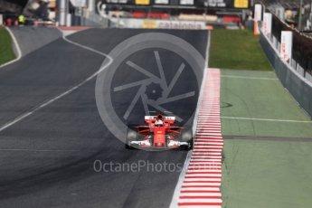 World © Octane Photographic Ltd. Formula 1 - Winter Test 2. Sebastian Vettel - Scuderia Ferrari SF70H. Circuit de Barcelona-Catalunya. Tuesday 7th March 2017. Digital Ref : 1784LB1D3251