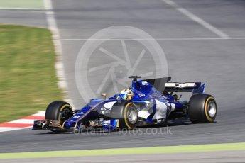 World © Octane Photographic Ltd. Formula 1 - Winter Test 2. Marcus Ericsson – Sauber F1 Team C36. Circuit de Barcelona-Catalunya. Tuesday 7th March 2017. Digital Ref: 1784LB1D3448
