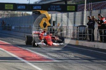 World © Octane Photographic Ltd. Formula 1 - Winter Test 2. Sebastian Vettel - Scuderia Ferrari SF70H. Circuit de Barcelona-Catalunya. Tuesday 7th March 2017. Digital Ref :1784LB5D9195
