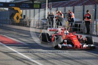 World © Octane Photographic Ltd. Formula 1 - Winter Test 2. Sebastian Vettel - Scuderia Ferrari SF70H. Circuit de Barcelona-Catalunya. Tuesday 7th March 2017. Digital Ref :1784LB5D9200